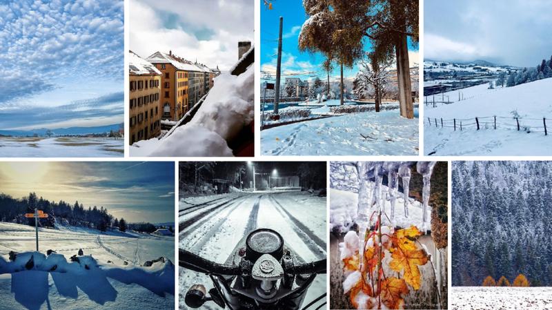 Les Neuchâtelois se réjouissent de l'arrivée de la neige sur Instagram