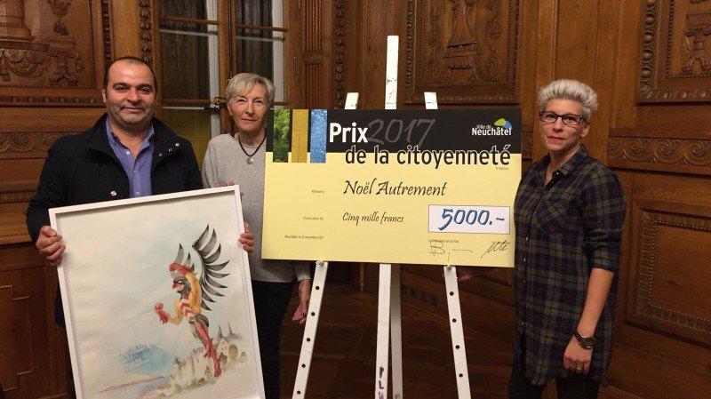 Neuchâtel: le prix de la Citoyenneté remis à l'association Noël Autrement