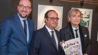 Terrorisme: François Hollande et Plantu inaugurent une expo à Molenbeek