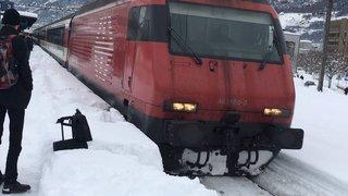 Le trafic ferroviaire a été perturbé par la neige entre Lausanne et Genève