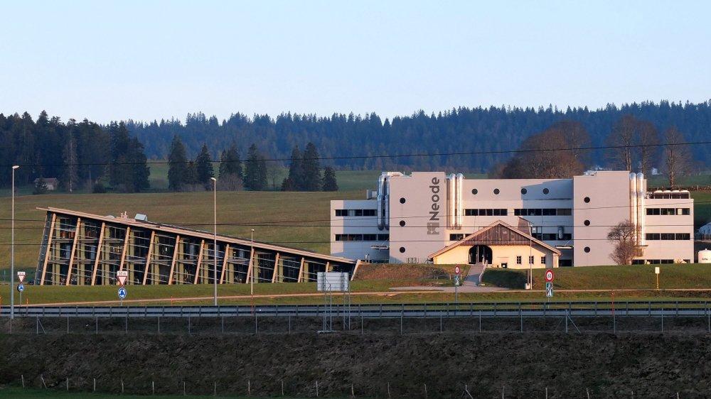 Le site de Neode à La Chaux-de-Fonds, au coeur de l'industrie des montagnes, avec, à gauche, l'horloger Greubel Forsey.