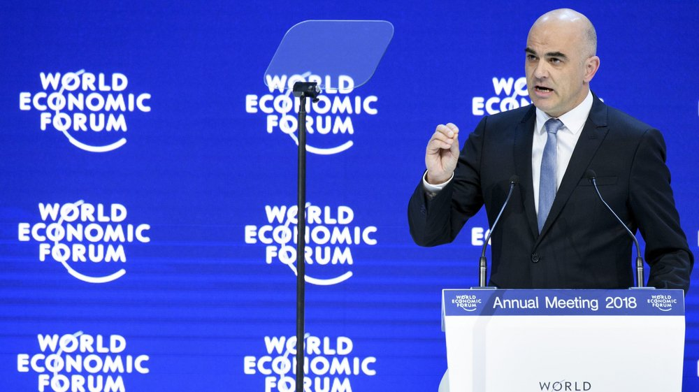 Le président de la Confédération Alain Berset a ouvert le Forum de Davos ce mardi. Il rencontrera Donald Trump vendredi.