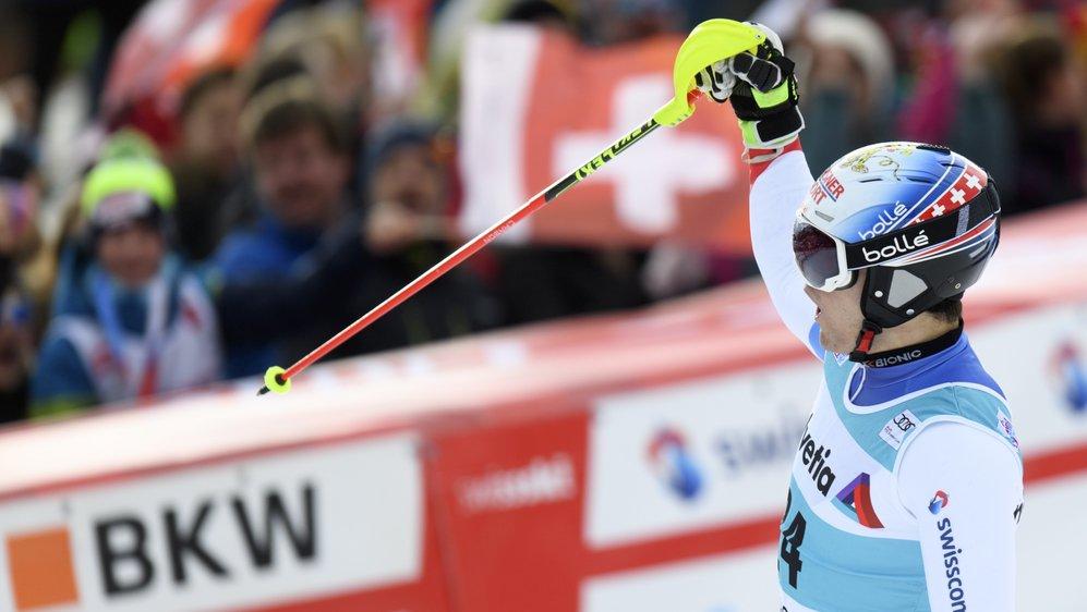 Loïc Meillard a terminé meilleur suisse à Adelboden en prenant la 8e place. Un nouveau résultat probant pour le skieur d'Hérémence.