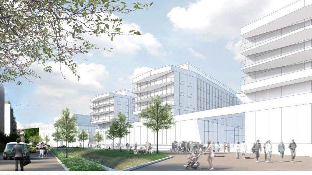 Le complexe immobilier du Ticle à Delémont: le projet a gagné en qualité, assurent les promoteurs.