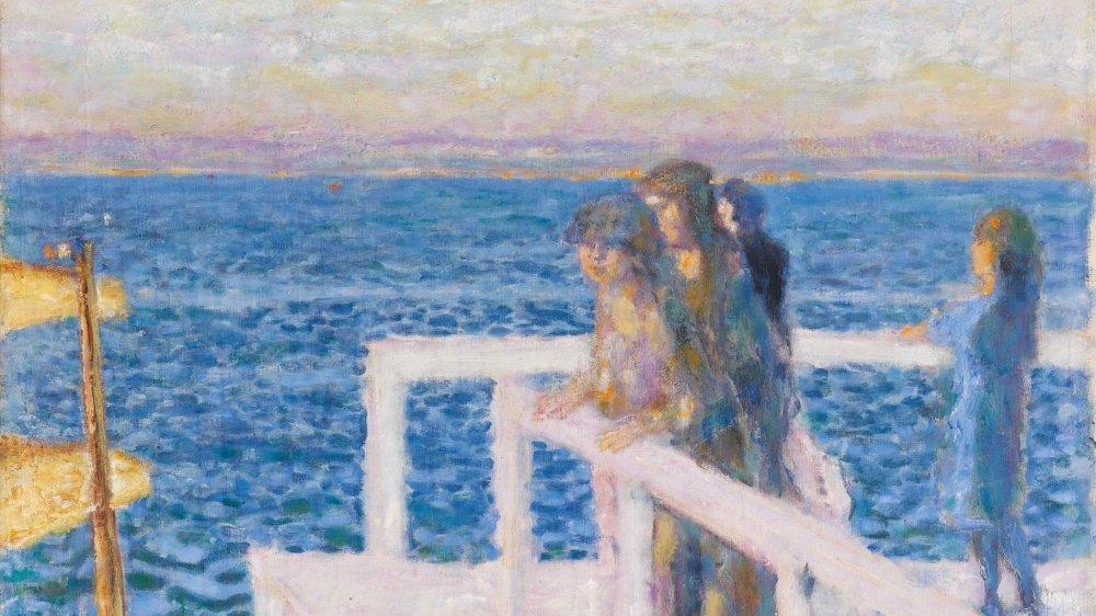 Pierre Bonnard, «Le débarcadère (ou l'embarcadère) de Cannes», 1934, huile sur toile.