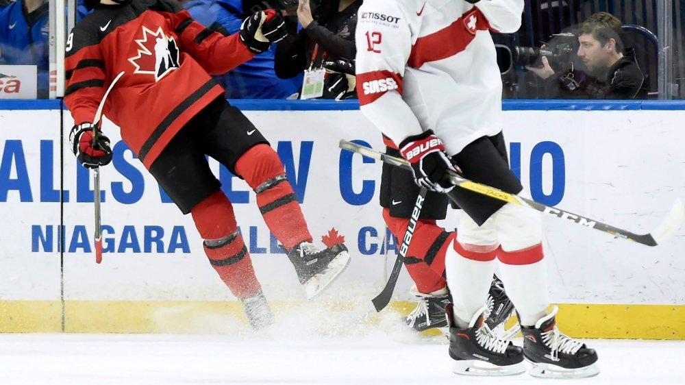 Tobias Geisser et la Suisse  n'ont pas eu l'ombre d'une chance contre les Canadiens.