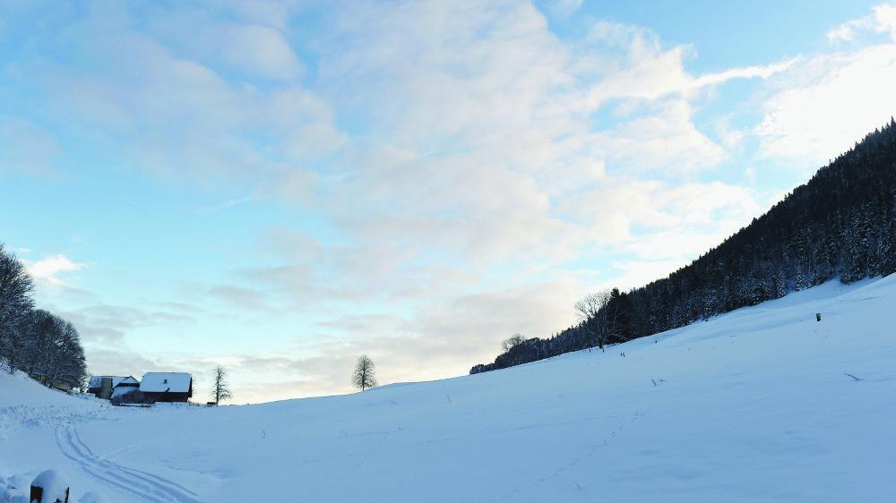 A cheval entre Gänsbrunnen et Court, la Binz et ses étendues d'or blanc en hiver font le bonheur de la famille Tschirren.