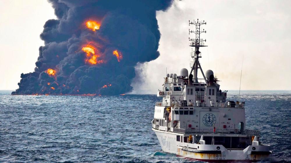 Le pétrolier iranien «Sanchi» a sombré dimanche, et avec lui son réservoir de 136000 tonnes d'hydrocarbures toxiques.