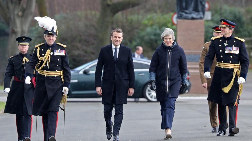 Le président français a rencontré hier la première ministre britannique, à l'Académie militaire de Sandhurst.