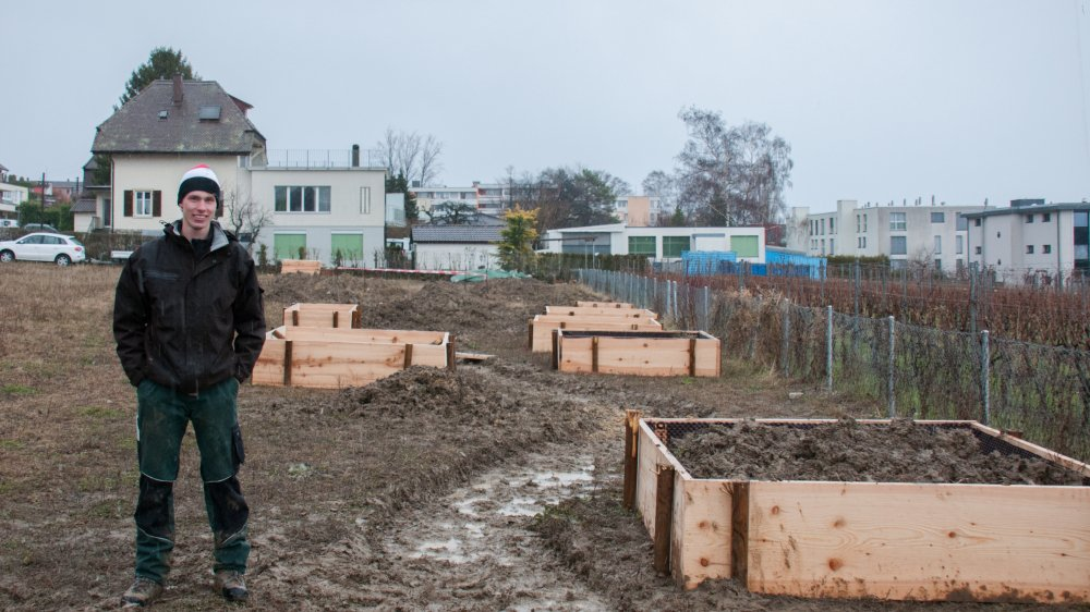 Ludovic Mosimann, l'un des initiateurs  du jardin communautaire.