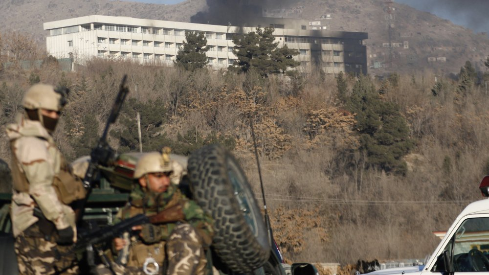 L'hôtel Intercontinental, cible des talibans.
