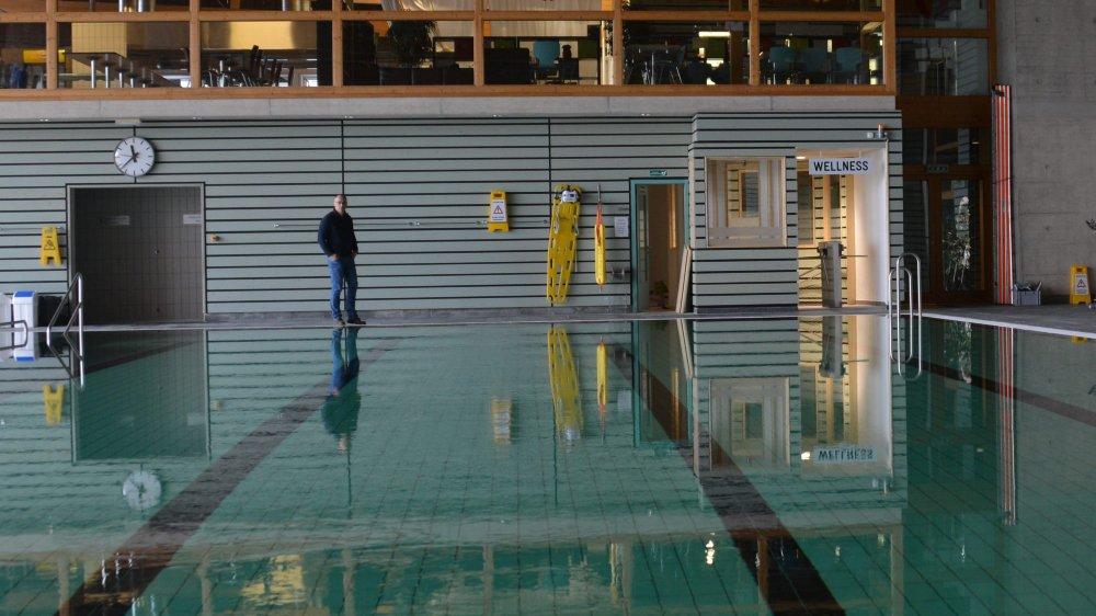 L'accès au wellness du centre sportif se fait désormais depuis la piscine.
