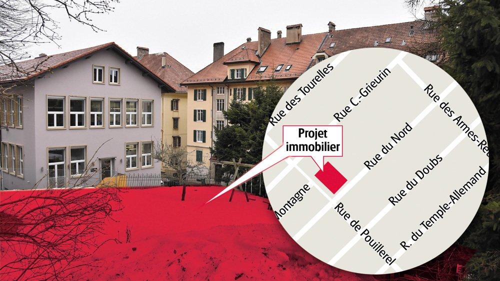 Rue du Nord 178, lieu de la future construction. Infographie: François Allanou