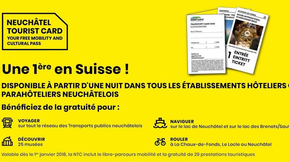 La Neuchâtel Tourist Card est un nouvel atout important pour le développement du canton.
