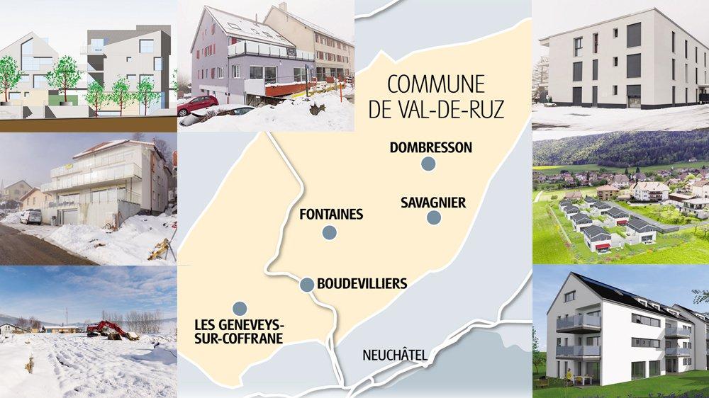 Les projets immobiliers fleurissent au Val-de-Ruz.