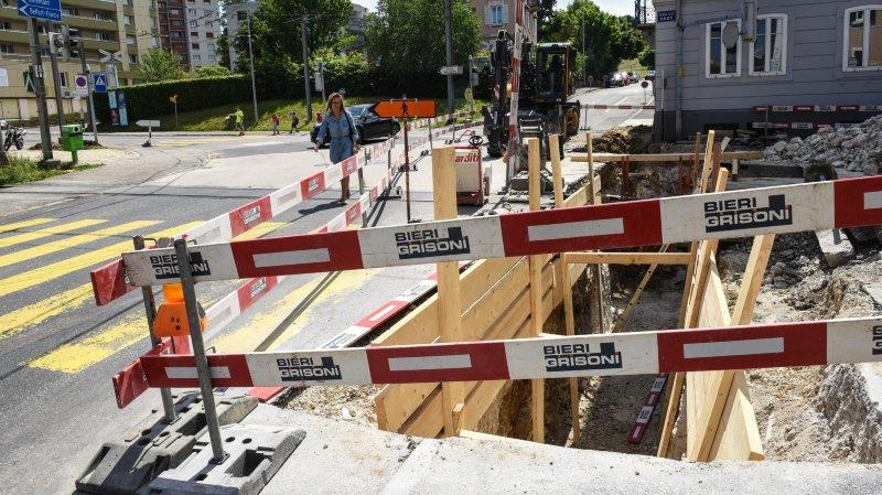 La sécurité des piétons mise en question sur le chantier de Crêt-Manège