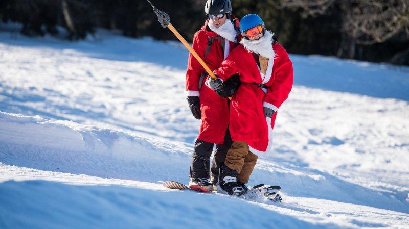 Des Bugnenets à la Robella, les férus de glisse ont pris d'assaut les pistes enneigées à Noël