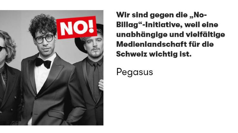 De nombreux compositeurs, écrivains, dramaturges, danseurs ou comédiens ont signé cet appel publié sur le site www.no-culture.ch.