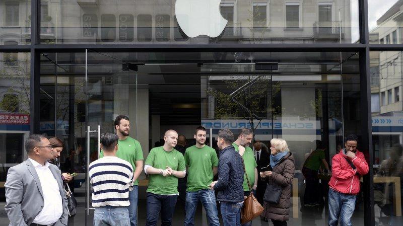 Zurich: un accu surchauffe dans l'Apple Store de la Bahnhofstrasse, 7 blessés