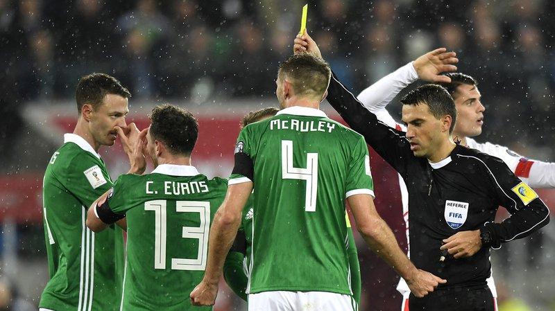 Les joueurs de l'Irlande du Nord ont eu toutes les raisons d'être fâchés contre l'arbitre Ovidiu Hategan.