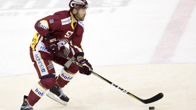 Hockey: le défenseur valaisan de Servette Goran Bezina indisponible pour une longue durée