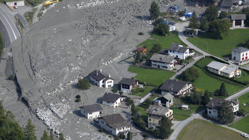 Catastrophe naturelle: les éboulements de Bondo ont causé pour 41 millions de francs de dégâts