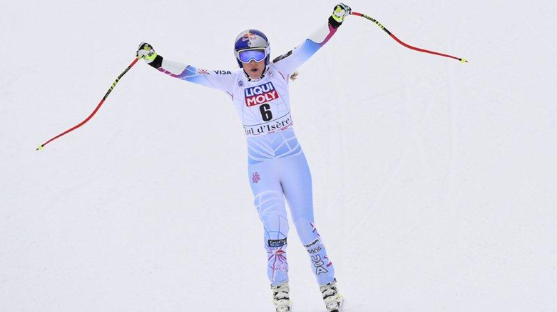 Ski alpin: Lindsey Vonn renoue avec la victoire au super-G de Val d'Isère