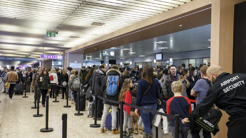 Aéroport de Genève: 17,3 millions de passagers enregistrés en 2017