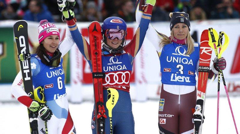 La Schwytzoise Wendy Holdener cueille son 12e podium dans la discipline en Coupe du monde.