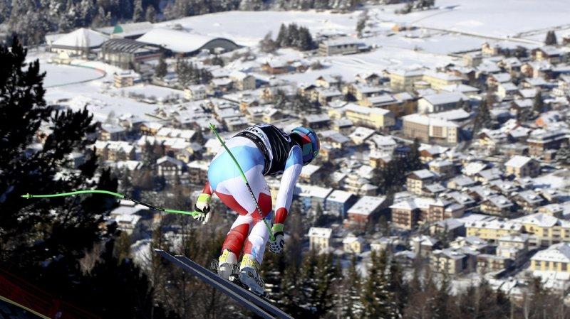 Luca Aerni a fini 5e du slalom de Zagreb.