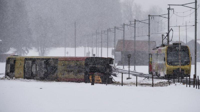 Berne: le déraillement d'un train à La Lenk fait huit blessés