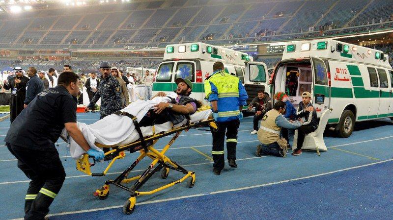 Football: onze supporters blessés après la chute d'une barrière dans un stade au Koweït