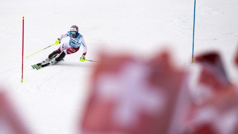 Ski alpin: Luca Aerni classé 6e après la 1ère manche du slalom d'Adelboden, dominée par Hirscher