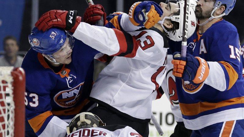 Hockey: les Devils perdent 5-4 à Brooklyn et concèdent une cinquième défaite