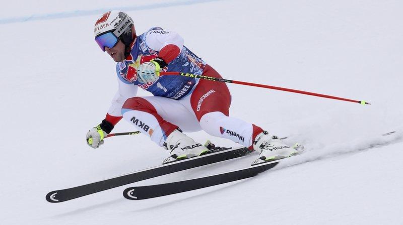 Meilleur Suisse, Beat Feuz s'est bien comporté hormis une erreur à la sortie du Steilhang.