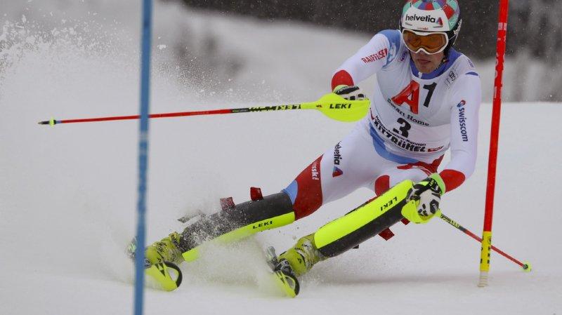 Ski alpin: excellente 4e place de Daniel Yule à la mi-course à Kitzbühel