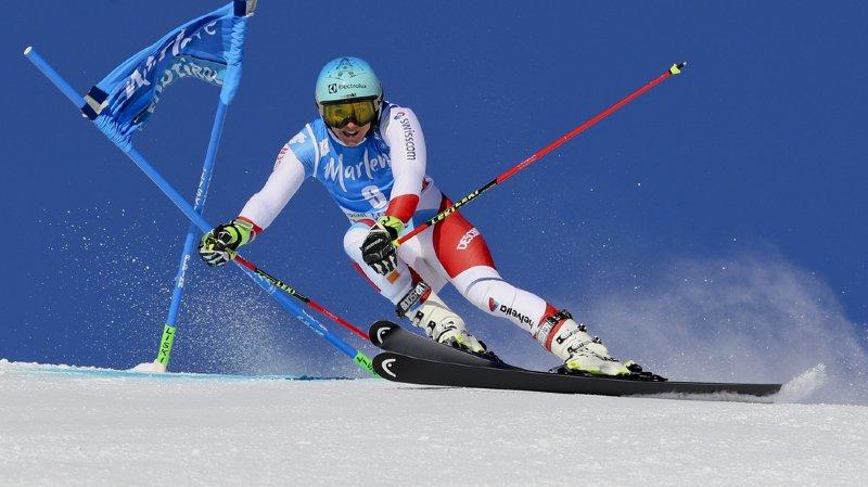 Ski alpin: Mowinckel en tête de la première manche du géant de Plan de Corones, les Suissesses loin derrière