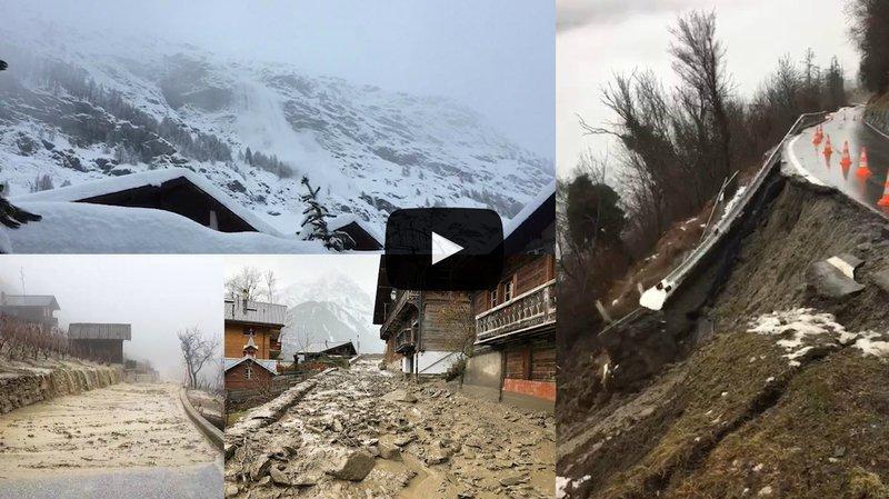 Intempéries: éboulements, avalanches, inondations, ce qu'il faut retenir des événements du jour en Valais