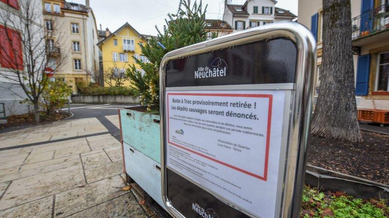 Neuchâtel: la boîte à troc du Tertre était prise pour une déchetterie