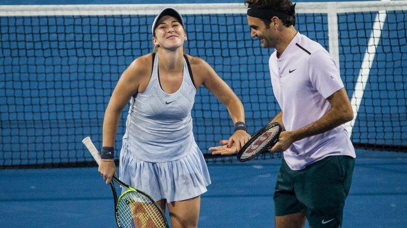 Roger Federer et Belinda Bencic en finale de la Hopman Cup