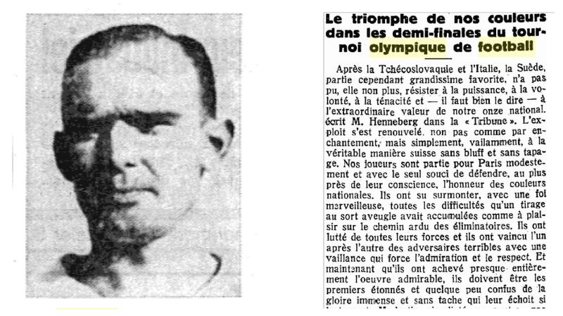 L'épopée olympique de Max Abegglen, à l'origine du nom du club Xamax