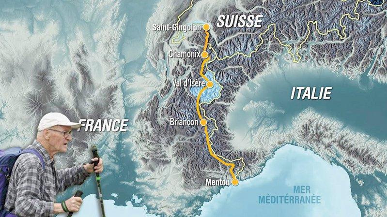 A 83 ans, le Neuchâtelois Daniel Besancet a marché du lac Léman à la mer Méditerranée pour la RTS