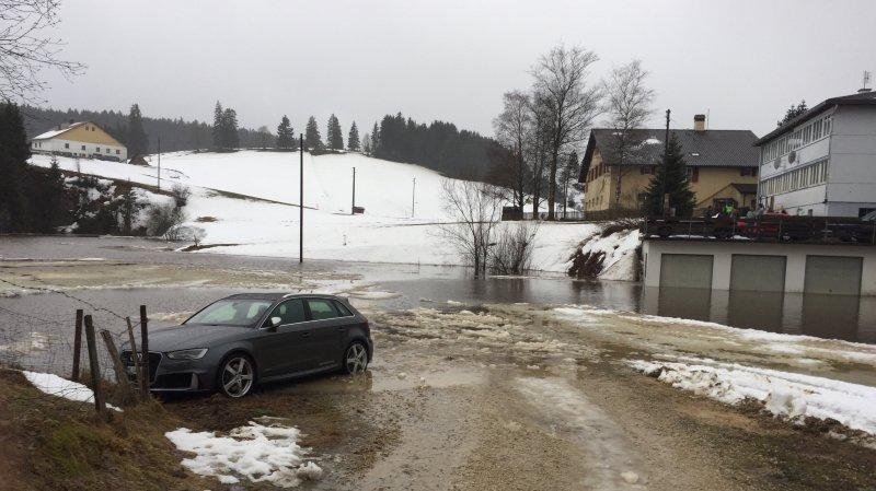 Inondation à La Brévine