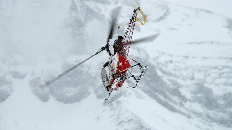 Valais: une avalanche emporte trois randonneurs à Saint-Luc, deux blessés