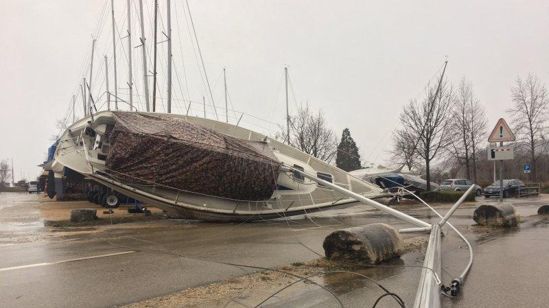 La tempête Eleanor a balayé le canton de Neuchâtel