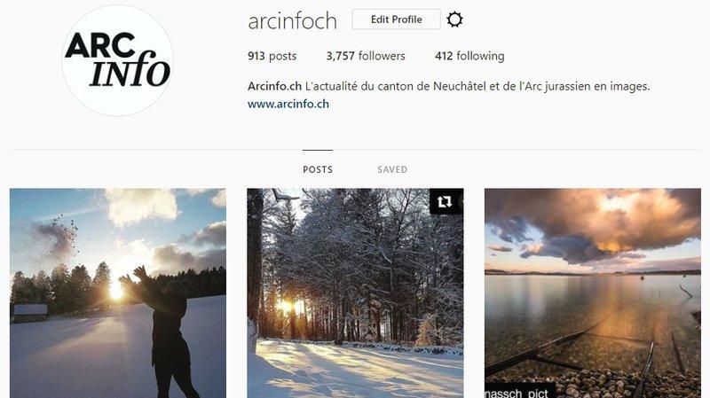 Le compte Instagram d'ArcInfo