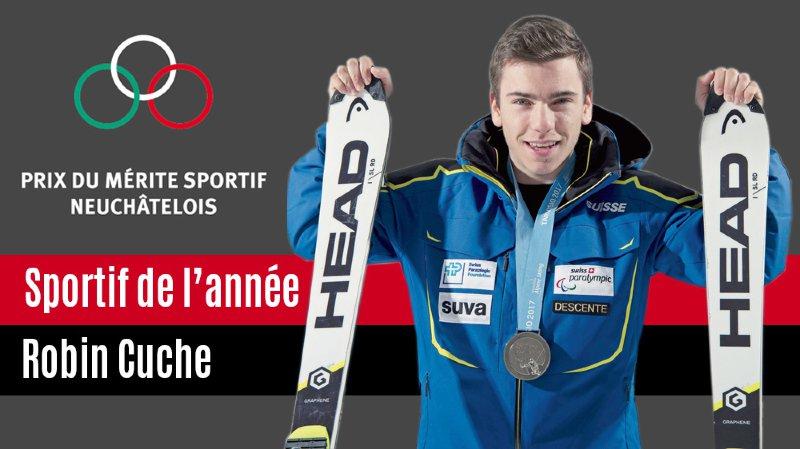 Le skieur neuchâtelois Robin Cuche est le premier sportif handicapé primé