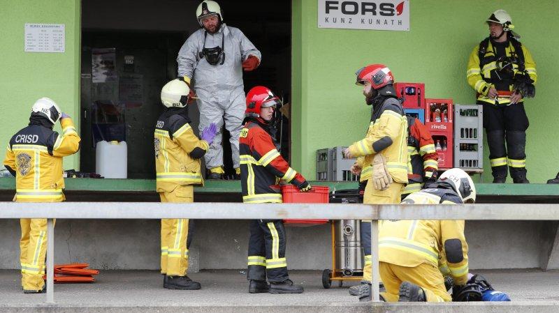 Une quarantaine de pompiers ont été mobilisés. BIST/Roger Meier