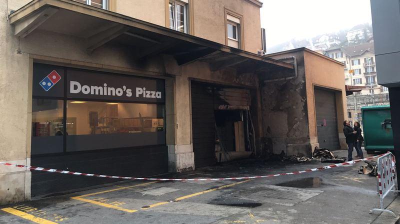 L'incendie s'est produit à deux pas de la gare de Neuchâtel.