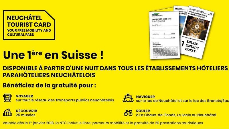 Tourisme: toujours plus de prestations gratuites pour renforcer l'attractivité du canton de Neuchâtel